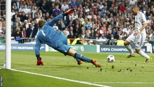 Karim Benzema scores for Real Madrid