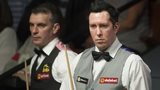 Dominic Dale during his match against Mark Davis
