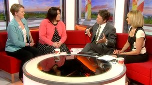 Kate Collins, director of fundraising at the Teenage Cancer Trust talks to BBC Breakfast