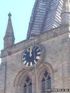 crooked spire clock repair