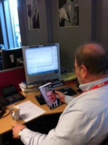 Roger Phillips at his desk