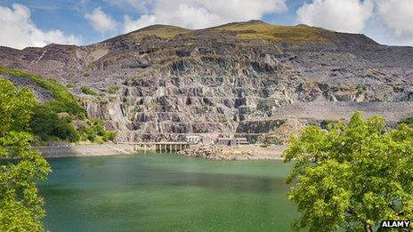 Dinorwig pumped hydro station, Wales
