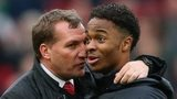 Liverpool manager Brendan Rodgers and Reds forward Raheem Sterling