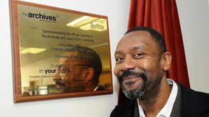 Lenny Henry at Dudley's new archives
