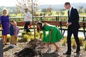 The Duke and Duchess of Cambridge take part a tree planting as they visit the National Arboretum in Canberra, Australia