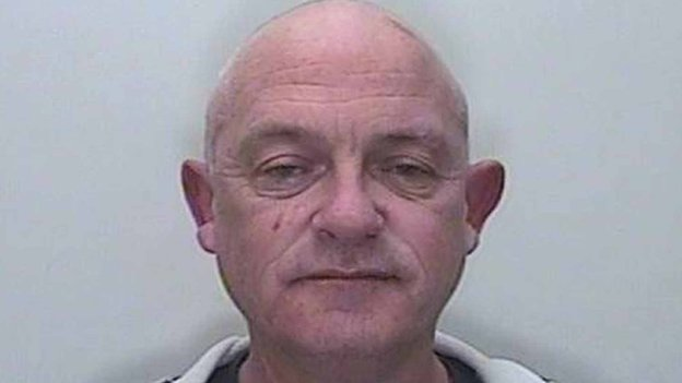 Police custody shot of Mark Eatwell from Wroughton, Wiltshire