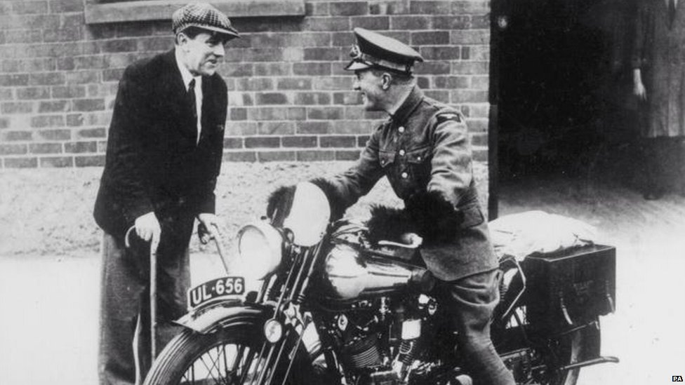 George Brough with Lawrence of Arabia