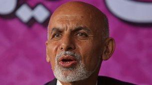 Afghan presidential candidate Ashraf Ghani Ahmadzai (April 2014)