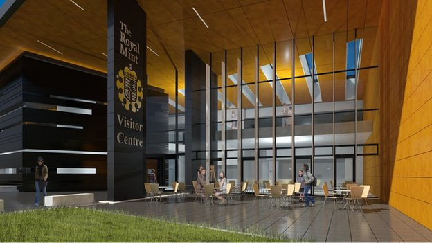 Artist's impression of the new visitor centre at the Royal Mint