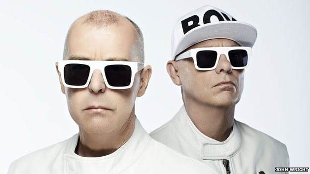 Pet Shop Boys duo Neil Tennant (l)  and Chris Lowe