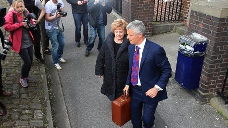 Barbara Knox leaving court with Nick Freeman