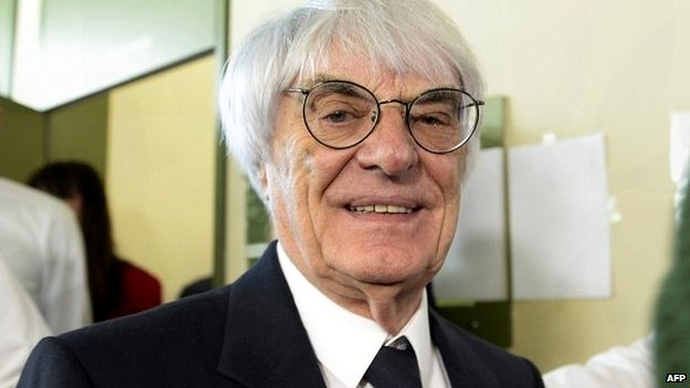 Bernie Ecclestone leaves the court room during a break of his trial in Munich - 24 April 2014