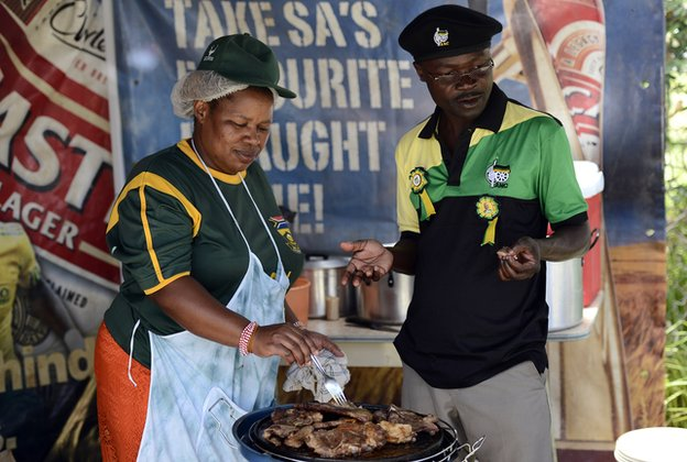 ANC supporters in Mangaung, South Africa (December 2012)