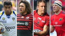 Wesley Fofana, Jacques Burger, Jonny Wilkinson and Paul O'Connell