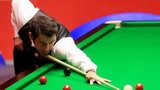 Ronnie O'Sullivan during his first round game against Robin Hull