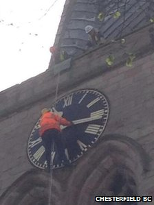 Crooked spire clock