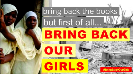 Campaign poster for #BringBackOurGirls