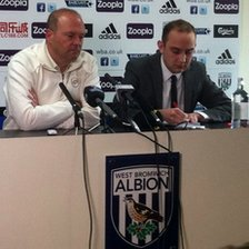 Pepe Mel at West brom press conference