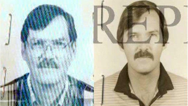 William Vahey in 1995 (left) and 1986