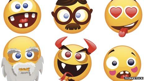 Selection of smiling Emojis