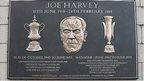 Joe Harvey plaque