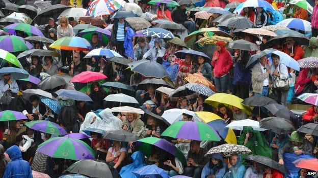 Umbrellas at Wimbledon