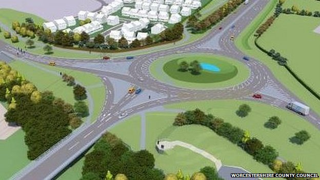 Artists impression of Ketch roundabout