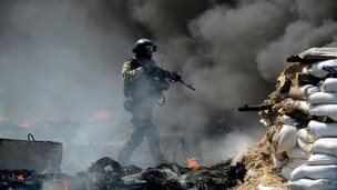 Ukrainian soldier, Sloviansk,, 24 April