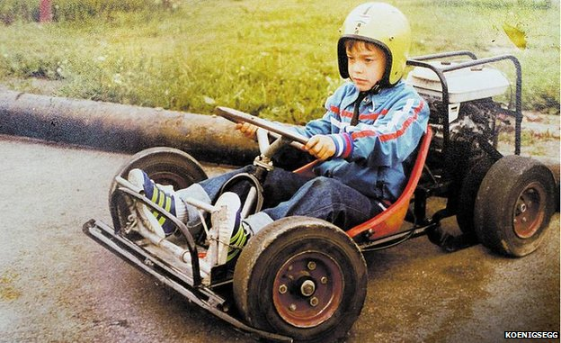 Christian von Koenigsegg as a boy