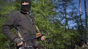 Pro-Russian activist near Sloviansk, 24 April