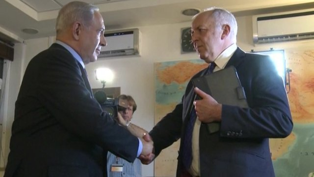 Benjamin Netanyahu and Jeremy Bowen