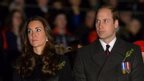 Duke and Duchess of Cambridge attend Anzac Day remembrance service