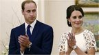 Prince William, left, and his wife Catherine, the Duchess of Cambridge