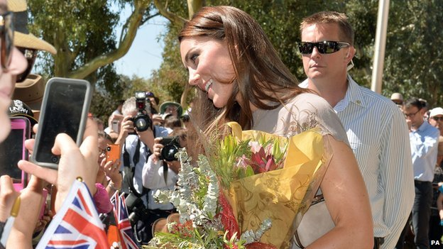 The Duchess of Cambridge in Uluru
