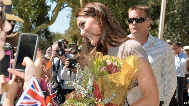The Duchess of Cambridge in Uluru