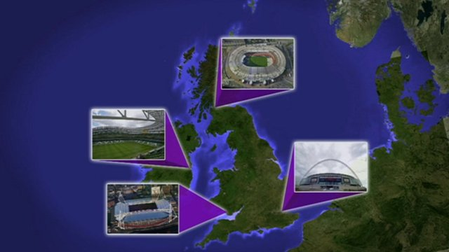Euro graphic map of possible stadia.