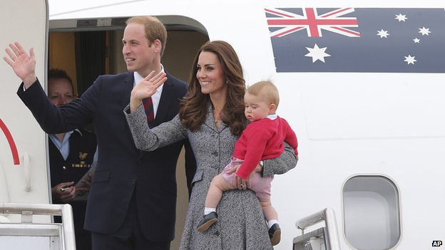 Royal tour ends
