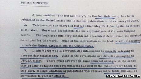 Welchman Thatcher memo
