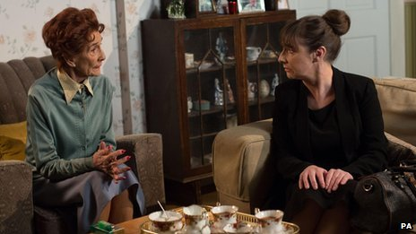 Pauline McLynn and June Brown in EastEnders