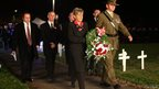 Christchurch Mayor Lianne Dalziel lays a wreath during ANZAC Day Dawn Service Parade at Cranmer Square on 25 April, 2014 in Christchurch, New Zealand