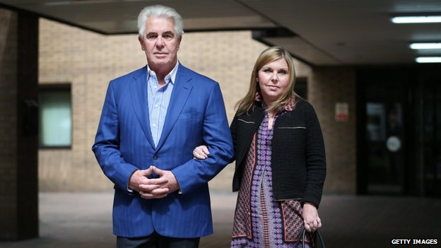 Max Clifford and his daughter Louise