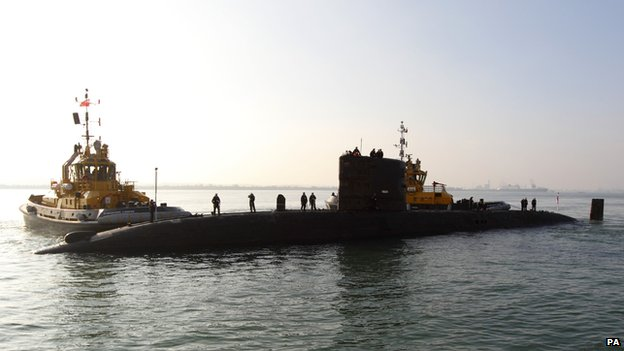 Royal Navy submarine HMS Tireless