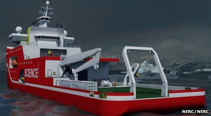 Artist's impression of new polar ship