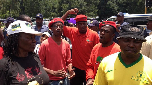 Supporters of different political parties in South Africa