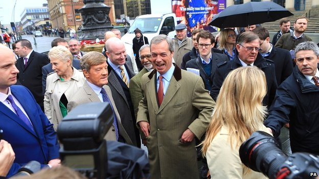 Nigel Farage in Sheffield