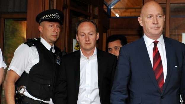 Gary Clarence leaves Wimbledon Magistrates' Court