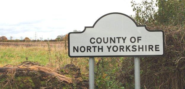 North Yorkshire sign