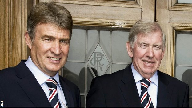 Sandy Jardine and John Greig