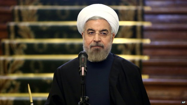 Iranian President Hassan Rouhani in Tehran, Iran, on 9 April 2014