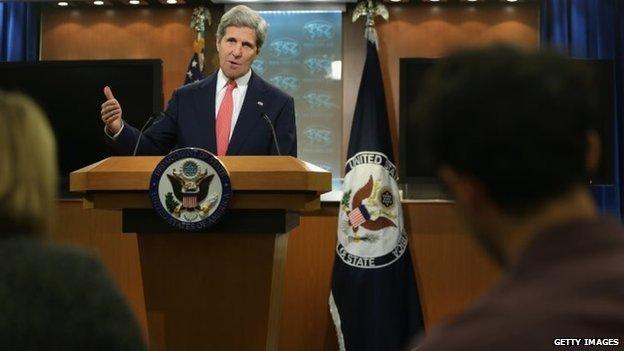 John Kerry making statement on Ukraine